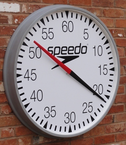 Digital Extra Pace Clocks Round Cased Swimming Pool